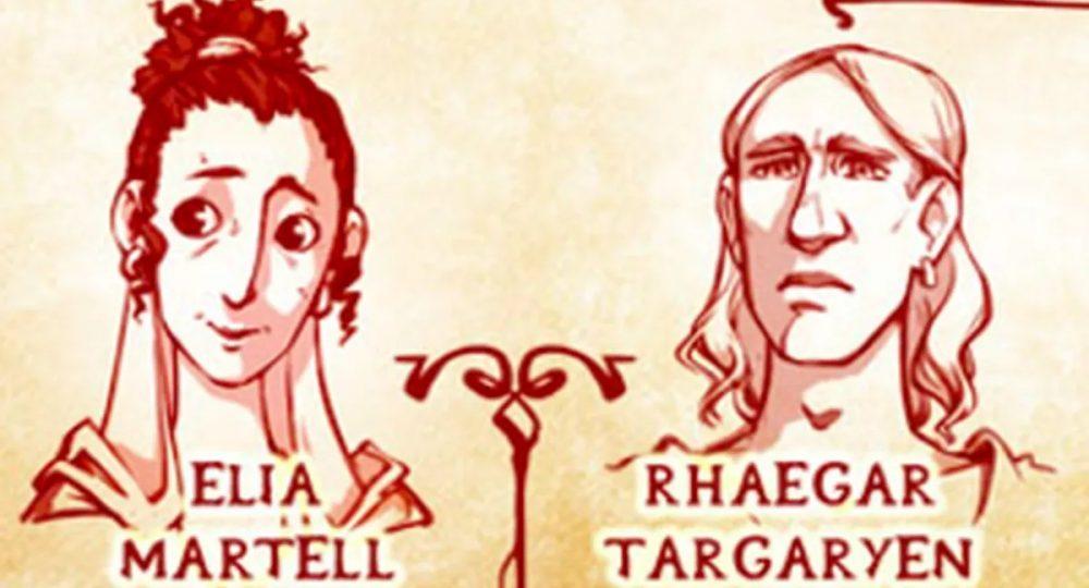 A sneak peek on the Targaryen family tree